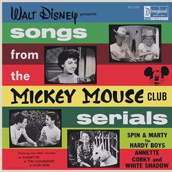 The Mickey Mouse Club Serials Soundtrack (Various Artists, Studio Chorus, Time Considine, Jimmie Dodd, Buddy Ebsen, Annette Funicello, Darlene Gillespie, Triple R, David Stollery) - CD cover