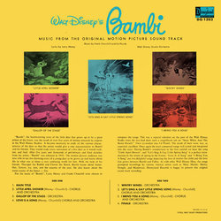 Bambi Soundtrack (Various Artists, Frank Churchill, Edward H. Plumb) - CD-Rückdeckel
