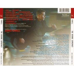 The Bourne Supremacy Soundtrack (John Powell) - CD Achterzijde