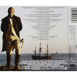 Master and Commander: The Far Side of the World Ścieżka dźwiękowa (Iva Davies, Christopher Gordon, Richard Tognetti) - Tylna strona okladki plyty CD
