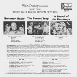 Music From Three Walt Disney Motion Pictures Soundtrack (Various Artists, Various Artists, Maurice Chevalier, Annette Funicello) - CD Achterzijde