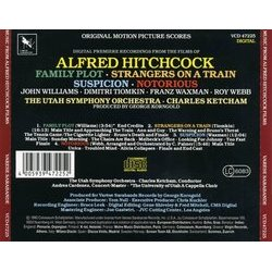 Music from Alfred Hitchcock Films Soundtrack (Dimitri Tiomkin, Franz Waxman, Roy Webb, John Williams) - CD Back cover