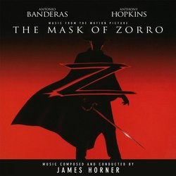 The Mask of Zorro Soundtrack (James Horner) - CD cover