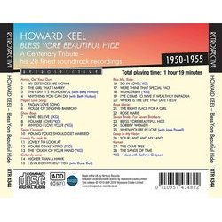 Howard Keel: Bless Yore Beautiful Hide サウンドトラック (Various Artists, Howard Keel) - CD裏表紙