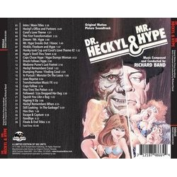 Dr. Heckyl and Mr. Hype Soundtrack (Richard Band) - CD Achterzijde