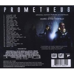 Prometheus Soundtrack (Harry Gregson-Williams, Marc Streitenfeld) - CD Achterzijde