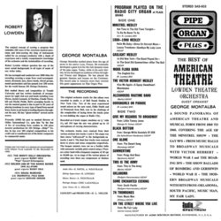 The Best Of American Theatre Soundtrack (Various Artists) - CD Back cover