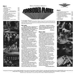 Forbidden Planet Soundtrack (Bebe Barron, Louis Barron) - CD Back cover