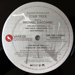 Star Trek Bande Originale (Michael Giacchino) - cd-inlay