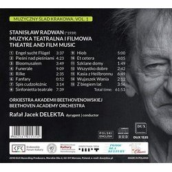 Radwan: Theatre & Film Music Soundtrack (Stanislaw Radwan) - CD Back cover