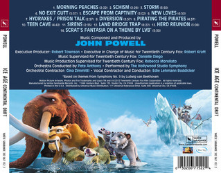 Ice Age: Continental Drift Soundtrack (John Powell) - CD Back cover