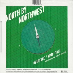 Vertigo / North By Northwest Trilha sonora (Bernard Herrmann) - CD capa traseira