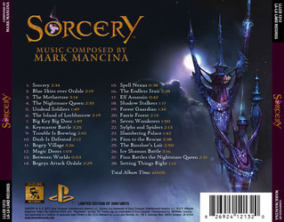 Sorcery Soundtrack (Mark Mancina) - CD Achterzijde