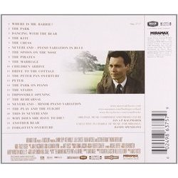 Finding Neverland Soundtrack (Jan A.P. Kaczmarek) - CD Back cover