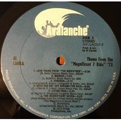 Theme From The Magnificent 7 Ride '73 Colonna sonora (Various Artists, Al Caiola) - cd-inlay