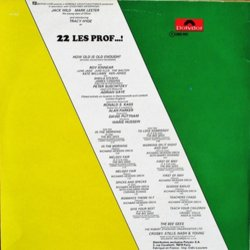 22 v'la les prof...! Soundtrack (Various Artists, The Bee Gees, Serge Gainsbourg, Jean-Claude Vannier) - CD Achterzijde