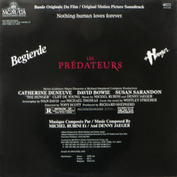 Les Prédateurs Soundtrack (Various Artists, Denny Jaeger, Michel Rubini) - CD Achterzijde