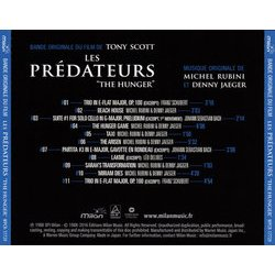 Les Prédateurs Soundtrack (Various Artists, Denny Jaeger, Michel Rubini) - CD Trasero