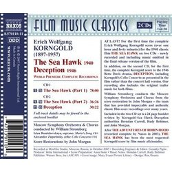 The Sea Hawk / Deception Soundtrack (Erich Wolfgang Korngold) - CD Back cover