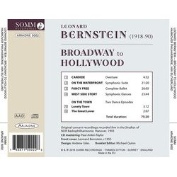 Bernstein: Broadway to Hollywood 聲帶 (Leonard Bernstein) - CD後蓋