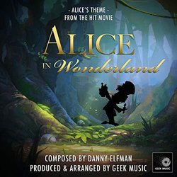 Alice In Wonderland: Alices Theme Soundtrack (Danny Elfman) - CD cover