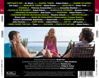 Savages Soundtrack (Various Artists, Adam Peters) - CD Back cover