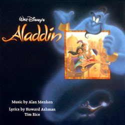 Aladdin Soundtrack (Various Artists, Howard Ashman, Alan Menken, Tim Rice) - CD cover