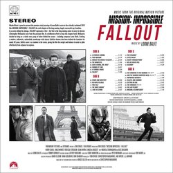 Mission: Impossible - Fallout Colonna sonora (Lorne Balfe) - Copertina posteriore CD