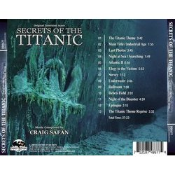 Secrets Of The Titanics Soundtrack (Craig Safan) - CD Back cover