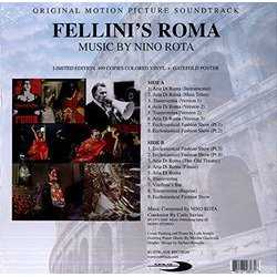 Fellini's Roma Soundtrack (Nino Rota) - CD Trasero
