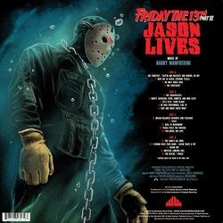 Friday the 13th part VI: Jason Lives Soundtrack (Harry Manfredini) - CD Back cover