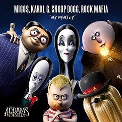 The  Addams Family: My Family Soundtrack (Snoop Dogg, KAROL G, Rock Mafia,  Migos) - CD cover