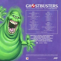 Ghostbusters Colonna sonora (Various Artists, Elmer Bernstein) - Copertina posteriore CD