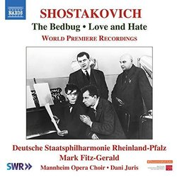 The  Bedbug / Love and Hate Soundtrack (Dmitry Shostakovich) - CD cover