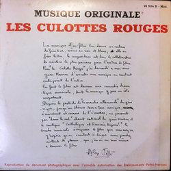 Les Culottes rouges サウンドトラック (Jean Marion) - CD裏表紙