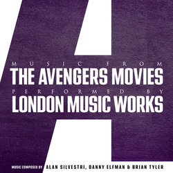 Music From The Avengers Movies Soundtrack (Danny Elfman, Michael Giacchino, Alan Silvestri, Brian Tyler) - CD cover