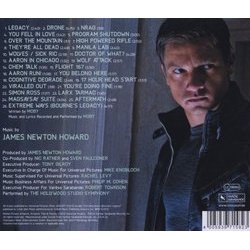 The Bourne Legacy Soundtrack (James Newton Howard) - CD Back cover