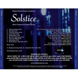 Solstice: A Christmas Story Soundtrack (Bálint Sapszon) - CD Trasero