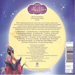 Aladdin Soundtrack (Various Artists, Howard Ashman, Alan Menken, Tim Rice) - CD Achterzijde