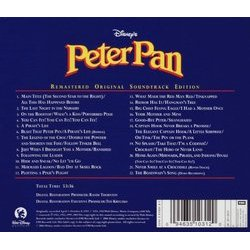Peter Pan Bande Originale (Oliver Wallace) - CD Arrière