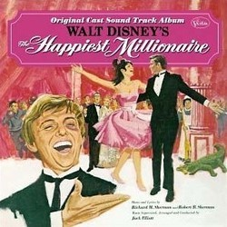 Happiest Millionaire サウンドトラック (Jack Elliott, Richard M. Sherman, Robert B. Sherman) - CDカバー