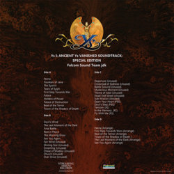 Ys I: Ancient Ys Vanished Bande Originale (Falcom Sound Team Jdk) - CD Arrière
