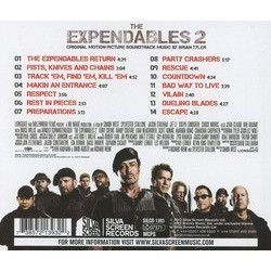 The Expendables 2 Soundtrack (Brian Tyler) - CD Back cover