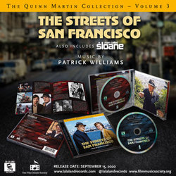 The Quinn Martin Collection Vol.3: The Streets of San Francisco Trilha sonora (Patrick Williams) - CD-inlay