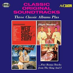West Side Story / High Society / South Pacific Soundtrack (Leonard Bernstein, Oscar Hammerstein, Cole Porter, Cole Porter, Richard Rodgers, Stephen Sondheim) - CD cover