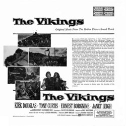 The Vikings Soundtrack (Mario Nascimbene) - CD Back cover
