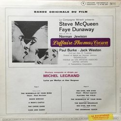 L'Affaire Thomas Crown Soundtrack (Michel Legrand) - CD Back cover