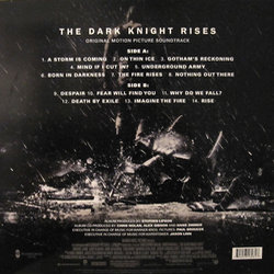 The Dark Knight Rises Soundtrack (Hans Zimmer) - CD Trasero
