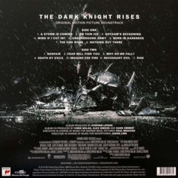 The Dark Knight Rises Bande Originale (Hans Zimmer) - CD Arrière