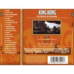 King Kong Colonna sonora (James Newton Howard) - Copertina posteriore CD